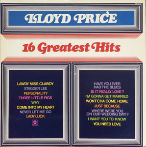 "LLOYD PRICE - 16 Greatest Hits LP (""Blues & R&B & Soul"")"