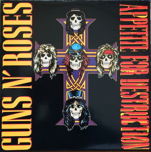 GUNS N' ROSES - Appetite For Destruction (1987 Original Vinyl Record LP GHS-24148)